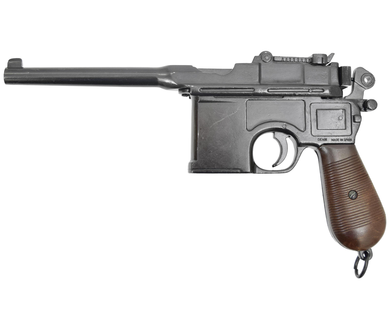 Макет пистолета Denix D7/1024 Mauser C 96 (ММГ, пластиковая рукоять)