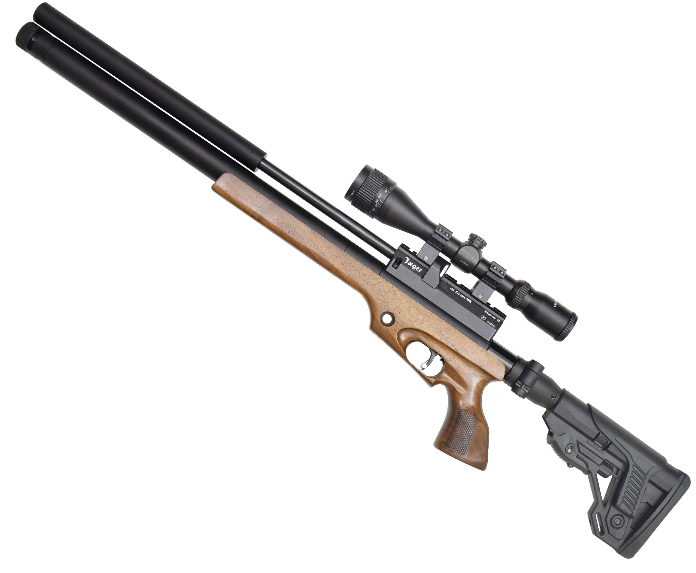 Пневматическая винтовка Jager SPR Карабин (5.5 мм, 450 мм, складной приклад, дерево)