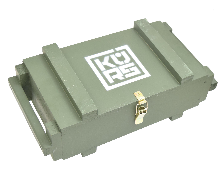 Деревянный ящик в военном стиле