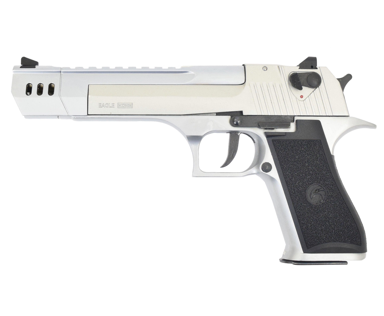 Охолощенный пистолет Курс-С Desert Eagle (250 мм, удлиненный ствол, Дезерт Игл, хром,10ТК)