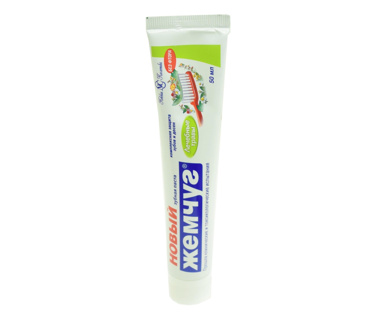 Зубная паста Новый Жемчуг Лечебные травы (50 мл)