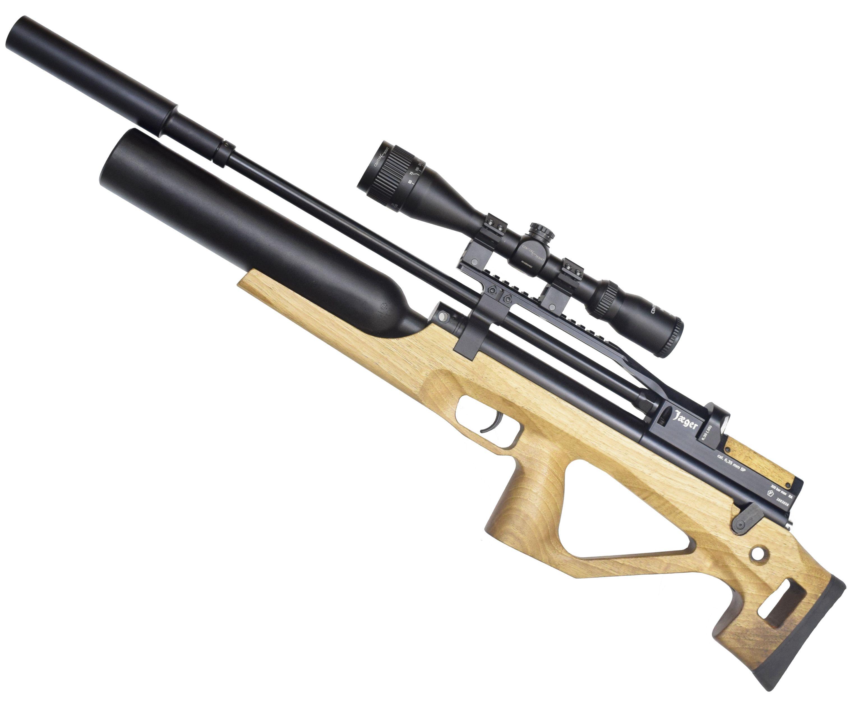 Пневматическая винтовка Jager SP Буллпап Колба (6.35 мм, дерево, 550 мм, LW)