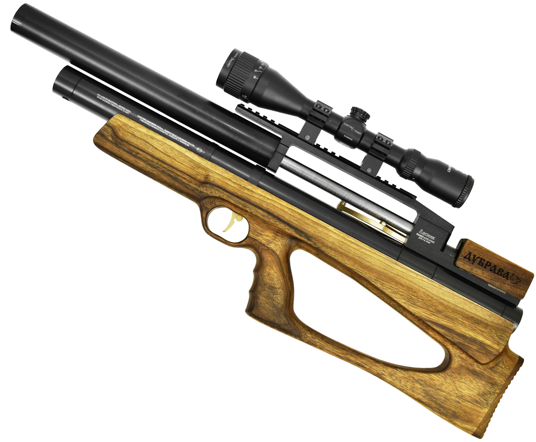 Пневматическая винтовка Дубрава Лесник BullPup 6.35 мм V4 (450 мм, Орех)