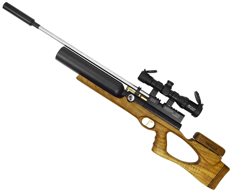 Пневматическая винтовка Дубрава Чекан Карабин Колба 7.62 V4 (580 мм, Орех)