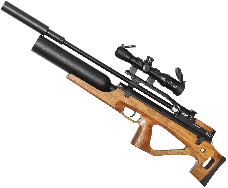 Пневматическая винтовка Jager SPR BullPup Колба (550 мм, 5.5 мм, Орех)