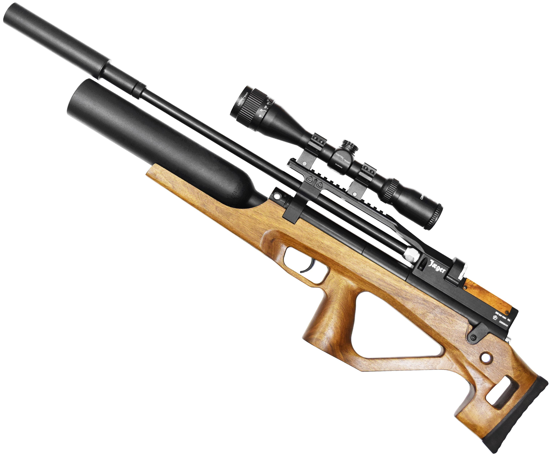 Пневматическая винтовка Jager SPR BullPup Колба (550 мм, 6.35 мм, Орех)