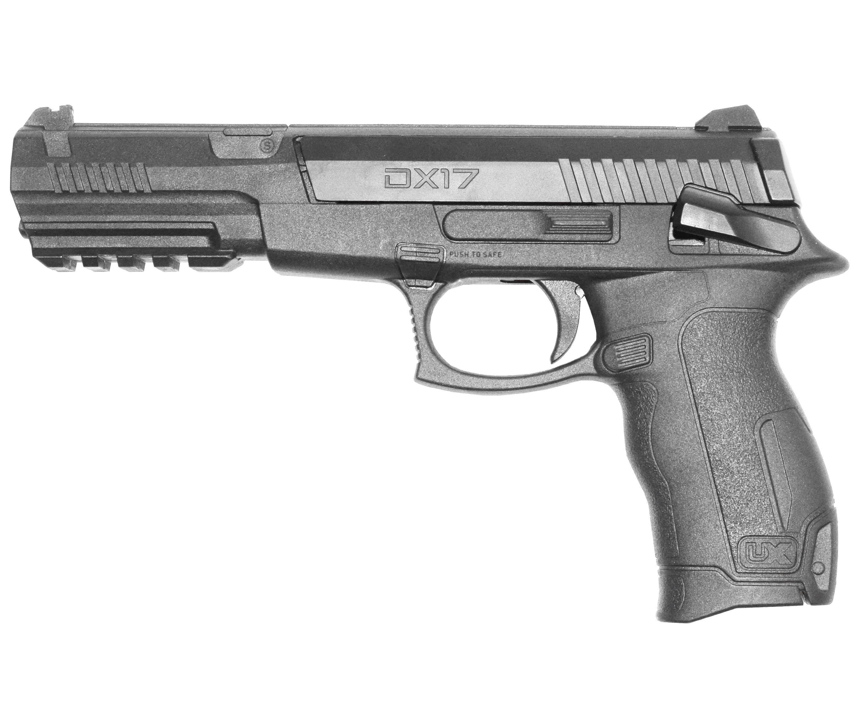 Пистолет пневматический Umarex DX17 (пластик, Pellet, BB)