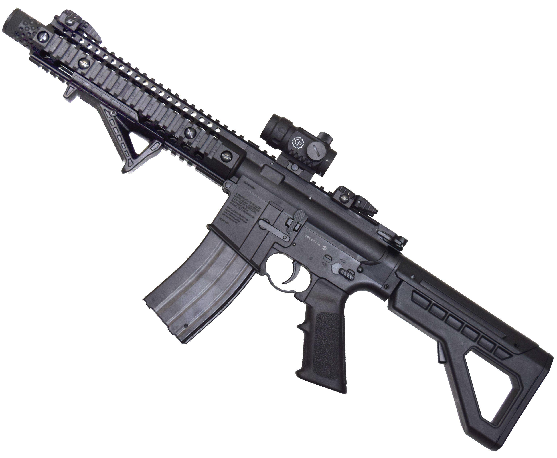 Пневматическая винтовка Crosman DPMS SBR Full Auto (Металл, Коллиматор)