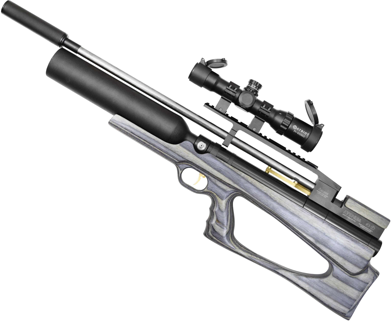 Пневматическая винтовка Дубрава Лесник Буллпап Колба 6.35 мм V4 (580 мм, Синий ламинат)