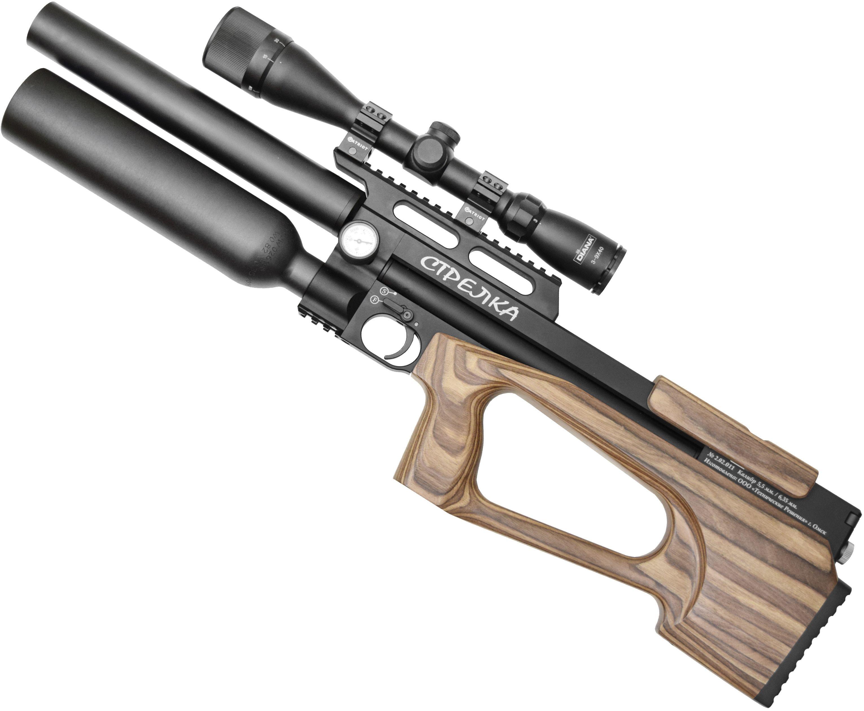 Пневматическая винтовка Стрелка Стандарт (450 мм, 6.35 мм, Ламинат коричневый)