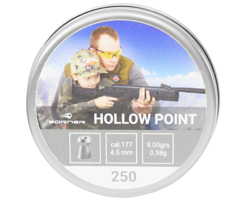 Пули пневматические Borner Hollow Point 4.5 мм (250 шт, 0.58 грамм)