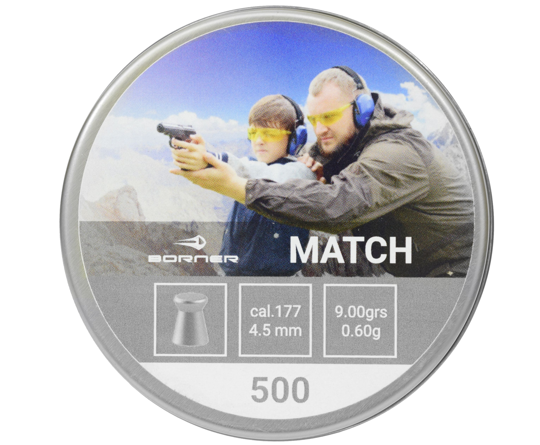 Пули пневматические Borner Match 4.5 мм (500 шт, 0.60 грамм)