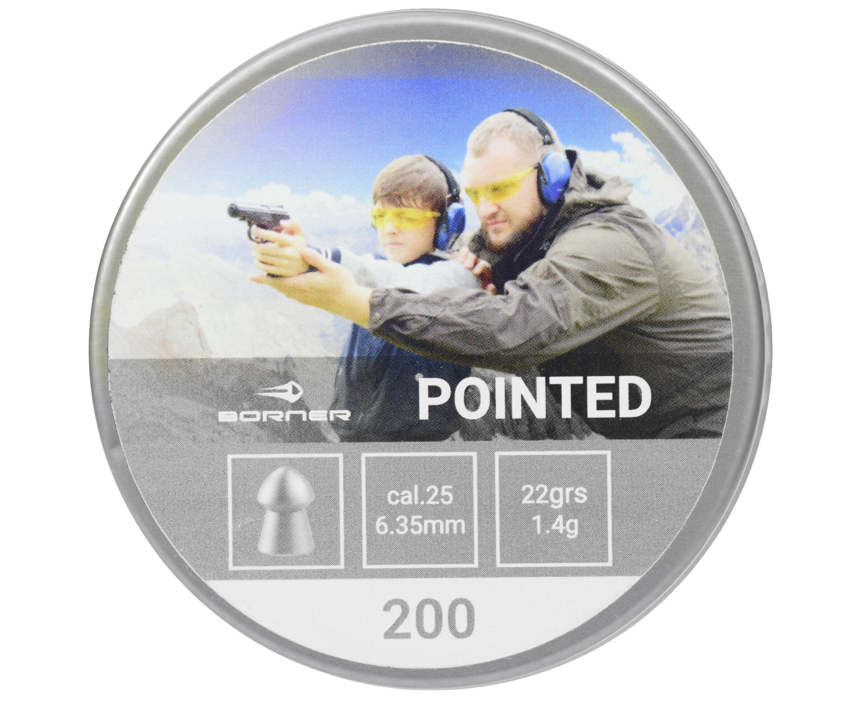 Пули пневматические Borner Pointed 6.35 мм (200 шт, 1.4 грамма)