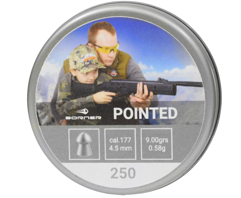 Пули пневматические Borner Pointed 4.5 мм (250 шт, 0.58 грамм)