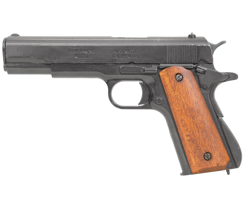 Макет пистолета Denix Colt M1911A1 (Деревянные накладки, D7/9316)