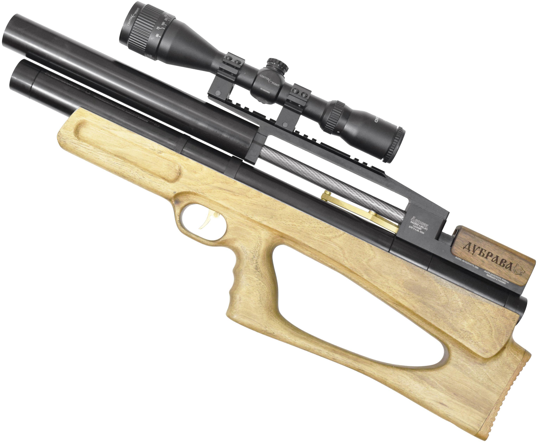 Пневматическая винтовка Дубрава Лесник BullPup 6.35 мм V4 (400 мм, Орех)