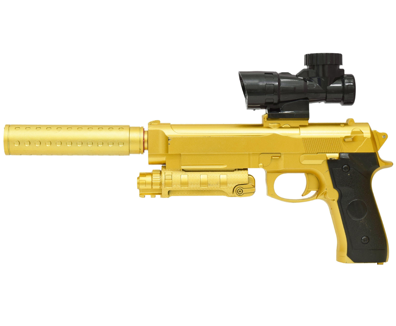 Гелевый пистолет Angry Ball M92 Gold