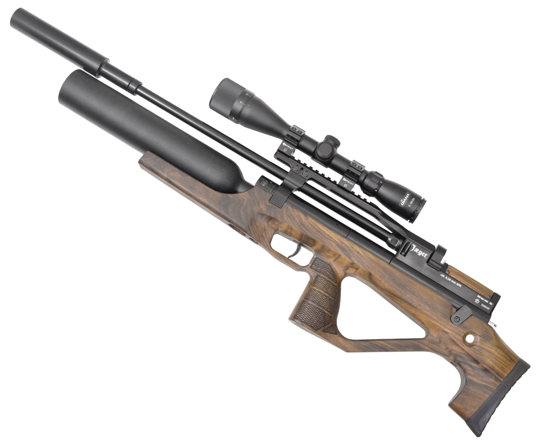 Пневматическая винтовка Jager SPR BullPup Колба (550 мм, 6.35 мм, Орех, LW)