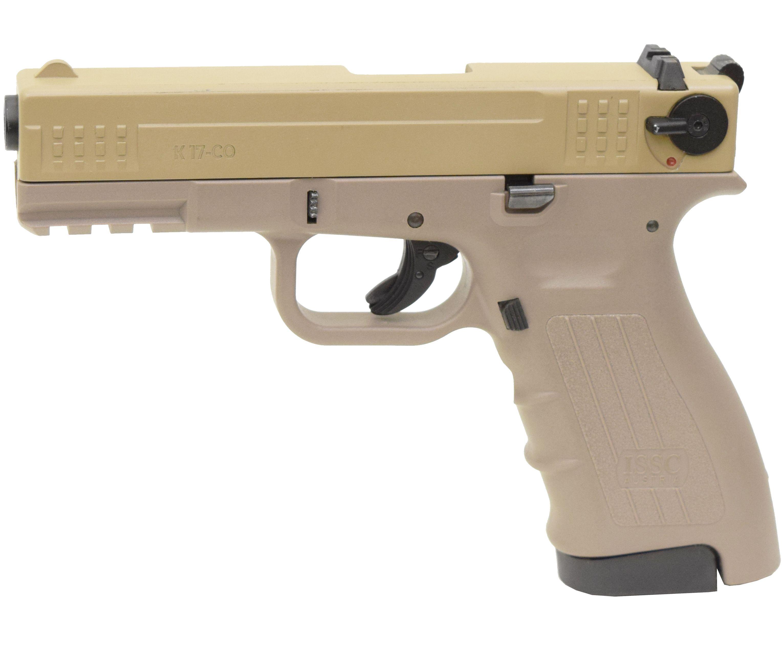 Охолощенный пистолет Глок К17 СО Песочный затвор (Glock 17, Курс-С)