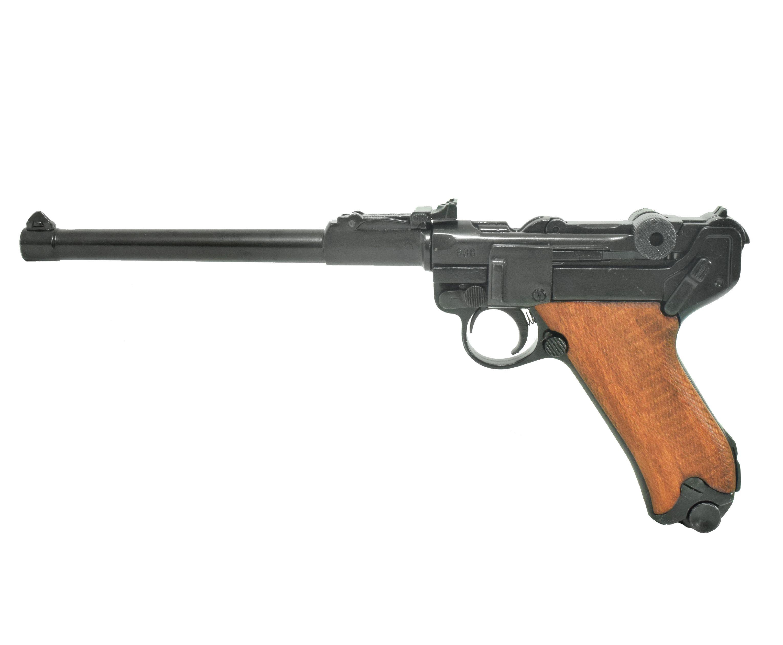 Макет пистолета Люгера Р08 1917 год (ММГ, деревянные накладки)