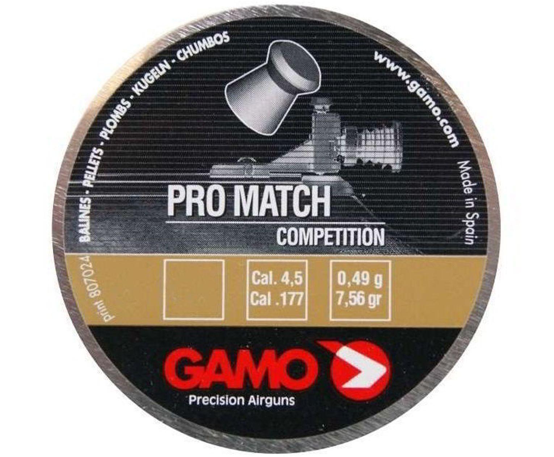 Пули пневматические Gamo Pro Match 4.5 мм (250 шт, 0.49 г)
