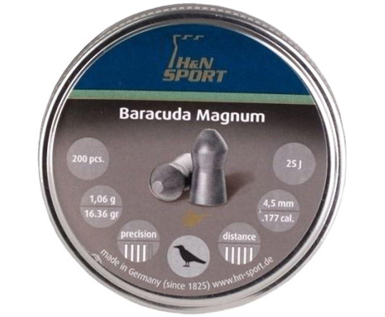 Пули пневматические H&N Baracuda Magnum 4.5 мм (200 шт, 1.06 г)