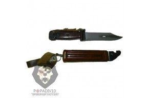ММГ Штык-ножа АК ШНС-001 (для АК74), коричневые ножны и рукоятка, без пропила