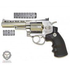 Пистолет пневматический Gletcher SW R4 Silver