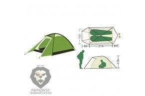 Палатка туристическая Remington 2-местная (210+60+50)*150*110, шт