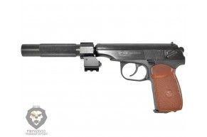 Пневматический пистолет Baikal МР 654К ГЛ (Глушитель ЛЦУ)