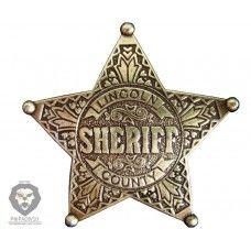 Звезда шерифа пятиконечная Denix D7/104 (латунь)