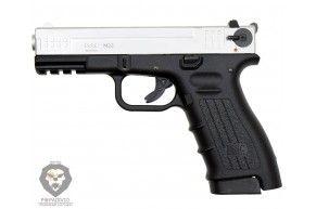 Охолощенный пистолет Глок К 17 СО Курс-С (Glock 17, матовый хром)
