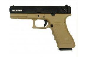Страйкбольный пистолет KJW G18 Tan (CO2, Glock 18)