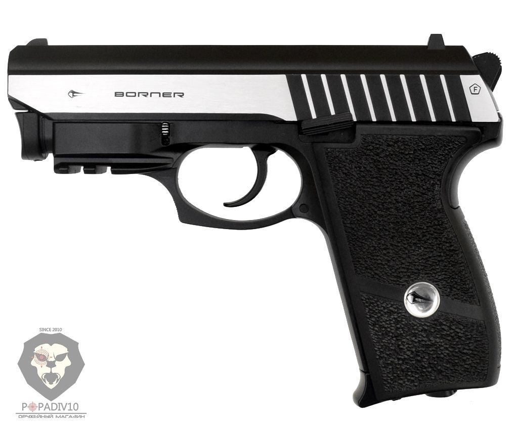 Пневматический пистолет Borner Panther 801 (ЛЦУ, blowback)