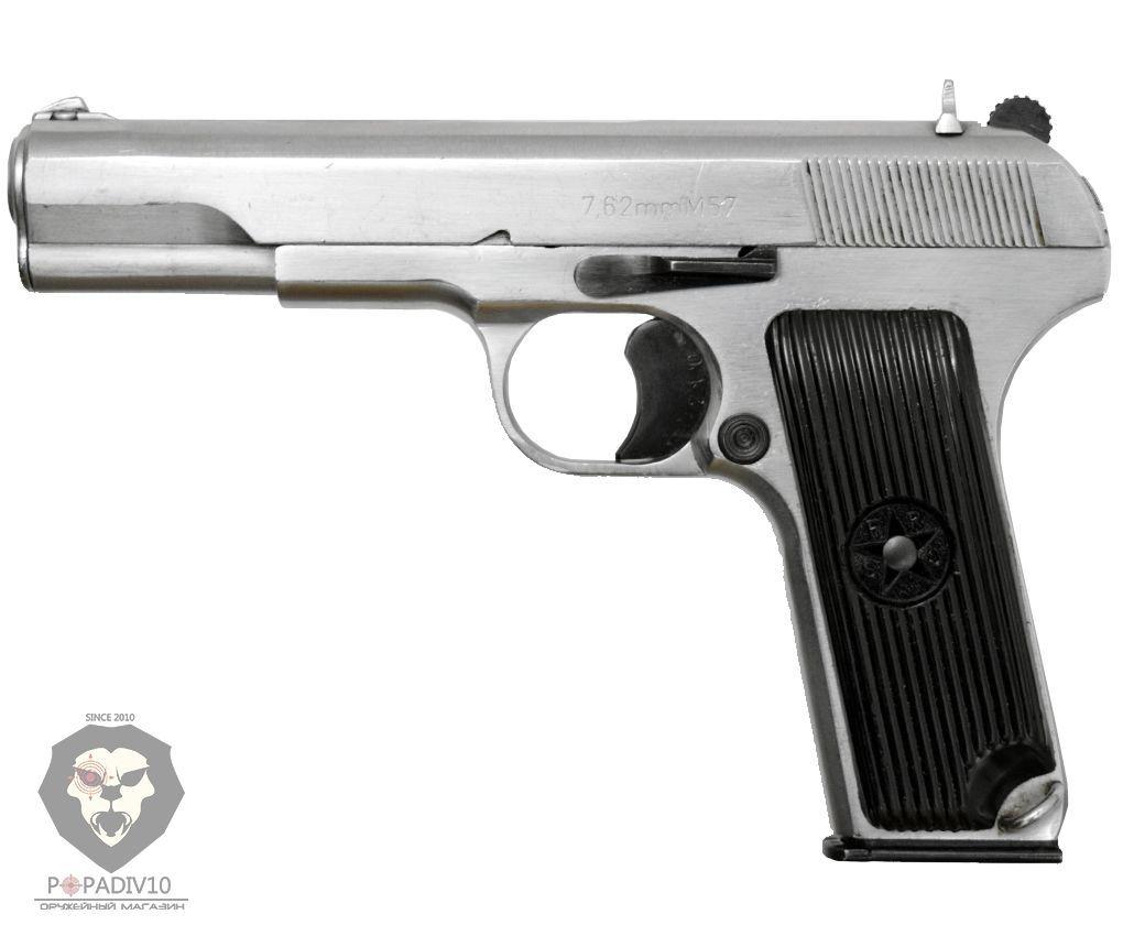 Охолощенный пистолет Токарев-СО Курс-С M57 (Zastava, хром)