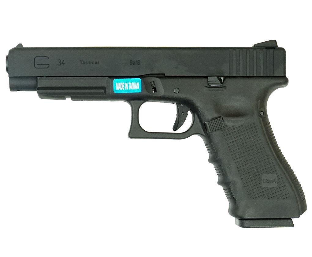 Страйкбольный пистолет WE Glock 34 (Blowback)